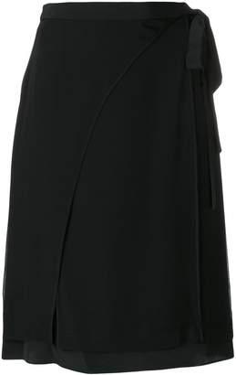 Diane von Furstenberg draped tie skirt