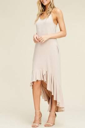 annabelle Hi-Low Ruffled-Hem Dress