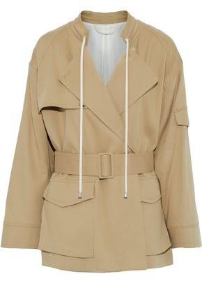 Helmut Lang Belted Cotton-Gabardine Jacket