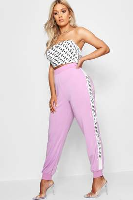 boohoo Plus Pastel Print Sports Jogger