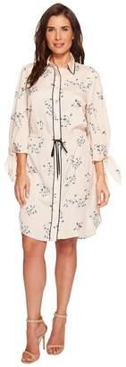 Lauren Ralph Lauren Floral Crepe Drawstring Shirtdress Women's Dress