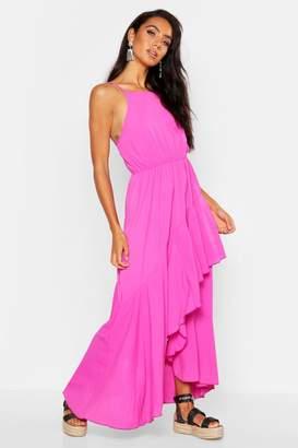boohoo Layered Asymmetric Hem Maxi Dress