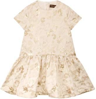 Roberto Cavalli Leopard Jacquard Drop Waist Dress
