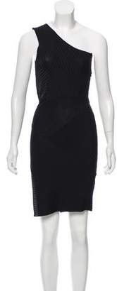 Neil Barrett Ribbed One-Shoulder Dress