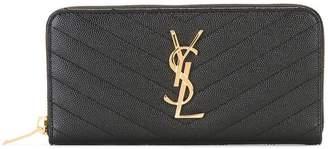 Saint Laurent Monogram zip around wallet