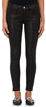 Frame Women's Le Skinny De Jeanne Leather Jeans - Black
