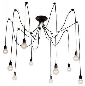 17 Stories Aliya Industrial Edison Spider Adjustable 10-Light Sputnik Chandelier 17 Stories