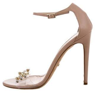 Jerome C. Rousseau Embellished Ankle Strap Sandals