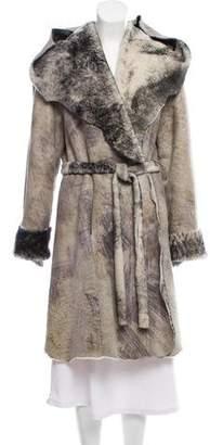 J. Mendel Shearling Knee-Length Coat