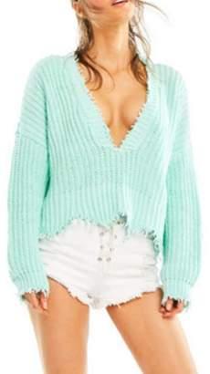 Wildfox Couture Women's Palmetto Sweater - Aqua Diver - M