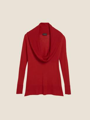 DKNY Merino Silk Cashmere Cowl Neck