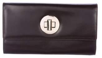 Tiffany & Co. Turn-Lock Leather Clutch