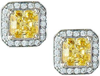 FANTASIA Yellow Cubic Zirconia Stud Earrings