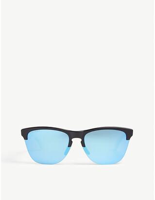 Oakley Mens Black Retro Oo9374 Square-Frame Sunglasses