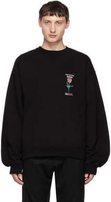 Christian Dada Black Rose Sweatshirt