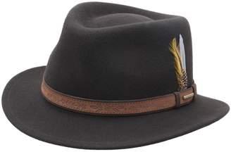 Stetson Merced Wool Felt Fedora Hat Size L