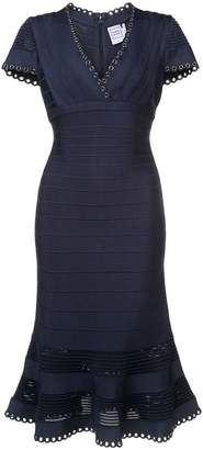 Herve Leger peplum style dress