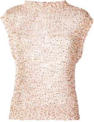 Roberto Collina open knit tank top