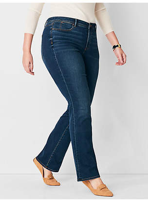 Talbots Plus Size Comfort Stretch High-Rise Barely Boot Jeans - Pioneer Wash