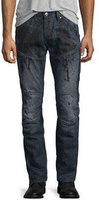G-Star 5620 3D Super-Slim Jeans, Dark Aged Splatter $210 thestylecure.com