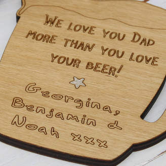 Neltempo Personalised Wooden Beer Mug Coaster