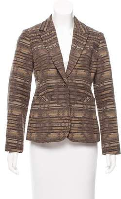 Pendleton Patterned Wool Blazer
