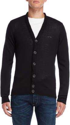 Armani Jeans Black Regular Fit Cardigan