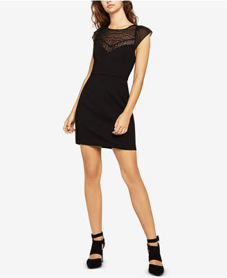 BCBGeneration Lace-Inset Mini Sheath Dress