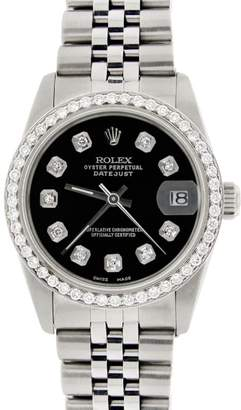Rolex Datejust Stainless Steel Jubilee Black Dial & Diamond Bezel Womens 31mm Watch