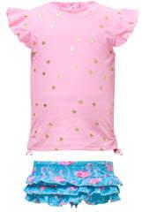Snapper Rock Two-Piece Ruffle Swimsuit