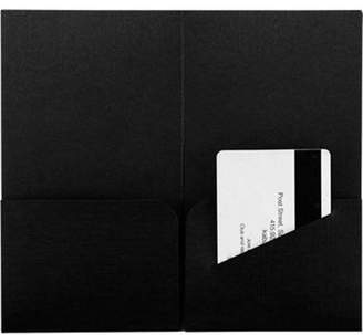 +Hotel by K-bros&Co Envelopes.com Hotel Key Card Holders (3 3/8 x 6) - Black Linen (500 Qty.)