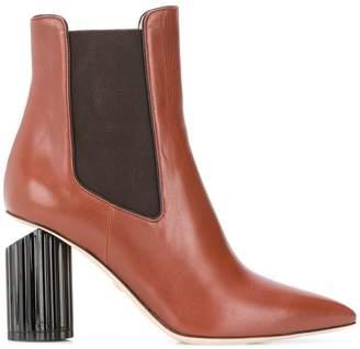 Roberto Cavalli chunky heel booties