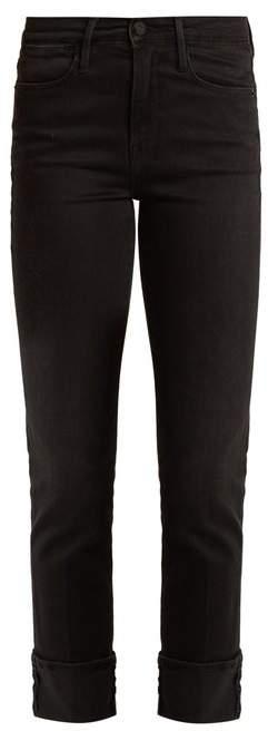 Le High straight-leg stretch-denim jeans
