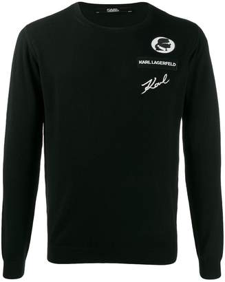 Karl Lagerfeld Paris logo embroidered sweater