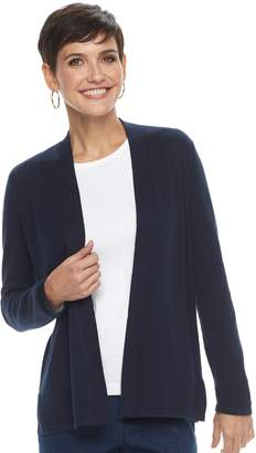 Croft & Barrow Petite Essential Open Front Cardigan