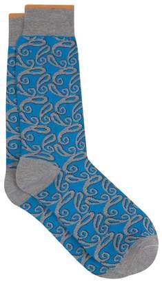 Duchamp London LONDON Shaded Paisley Sock