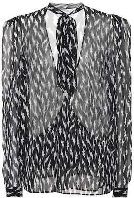 Givenchy Printed silk top