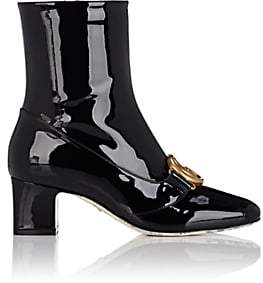 Gucci Women's Embellished Patent Leather Ankle Boots - Black