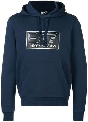 Emporio Armani Ea7 logo basic hoodie
