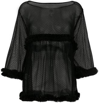I'M Isola Marras sheer point d'esprit blouse