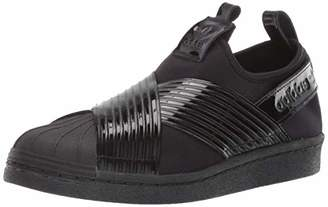 adidas Women's Superstar Slip On Running Shoe Black/Collegiate Purple