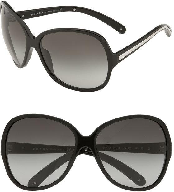 Prada 'Paris Glam' Oversized Frame Sunglasses