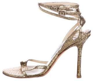 Jimmy Choo Metallic Ankle Strap Sandals