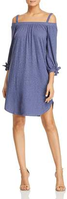 Three Dots Cold-Shoulder Knit Dress