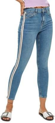 Topshop Jamie Side Stripe Moto Jeans