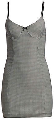 Alexander Wang Women's Houndstooth Bodycon Dress