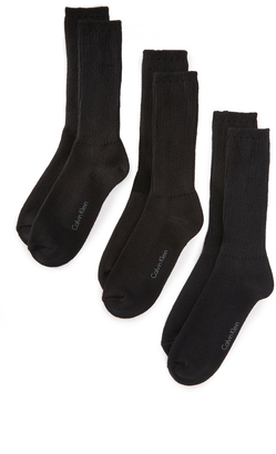 Calvin Klein Underwear 3 Pack Casual Knit Crew Socks $22 thestylecure.com