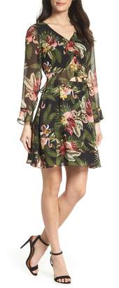 Sam Edelman Waist Cutout Ruffle Dress