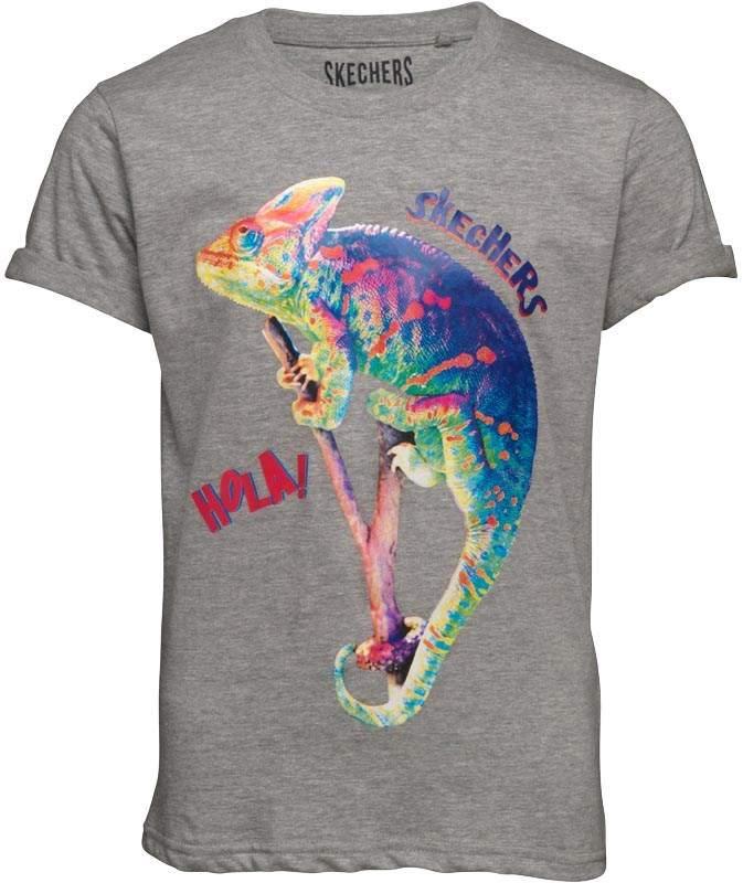 Jungen Reptillia T-Shirt Graumeliert