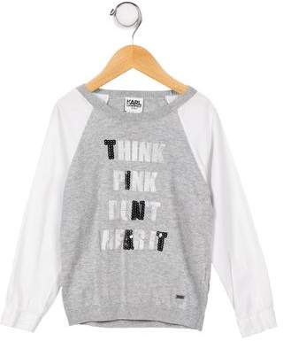 Karl Lagerfeld Girls' Graphic Knit Top